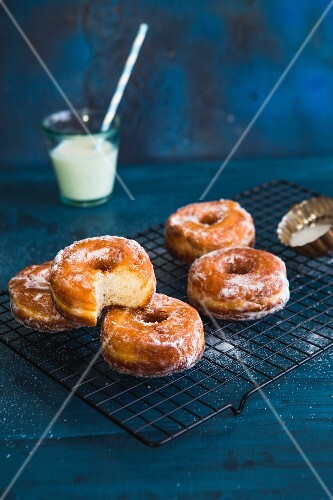 Doughnuts on a cooling rack