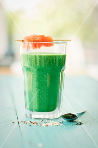 A green smoothie rich in iron