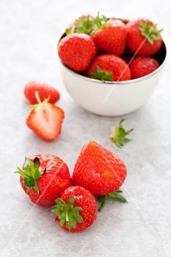 Over-ripe strawberries