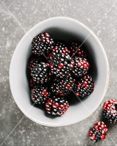Blackberries in a dish