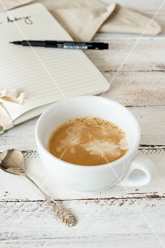 A morning cup of cappuccino