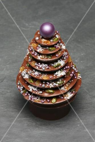 Milchschokoladenbaum für Weihnachten