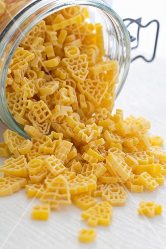 Christmas pasta in a preserving jar