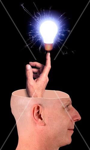 Subconscious idea,conceptual image