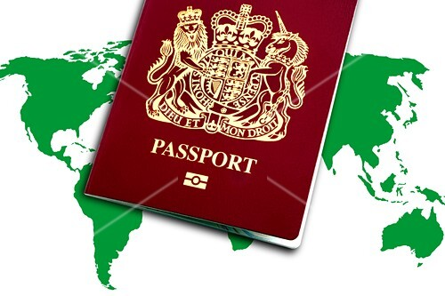 British passport,conceptual image