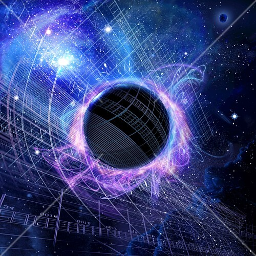 Hawking radiation,conceptual image