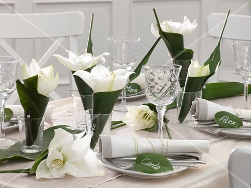 Tischdeko Mit Amaryllis Und Bild Kaufen 12148839 Friedrich