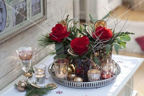 Rosa Weihnachtsdeko.Weihnachtsdeko Mit Rosa Orange Sky Bild Kaufen 12177409