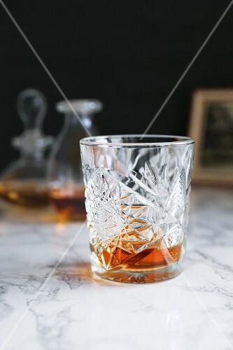 Cognac in a vintage glass