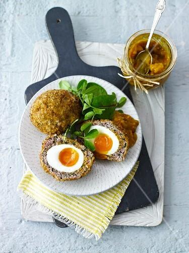Scotch Eggs (Draufsicht)