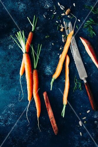 Carrots, sweet potatoes