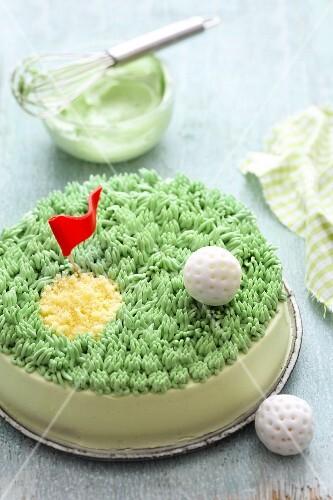 A buttercream cake for golfers