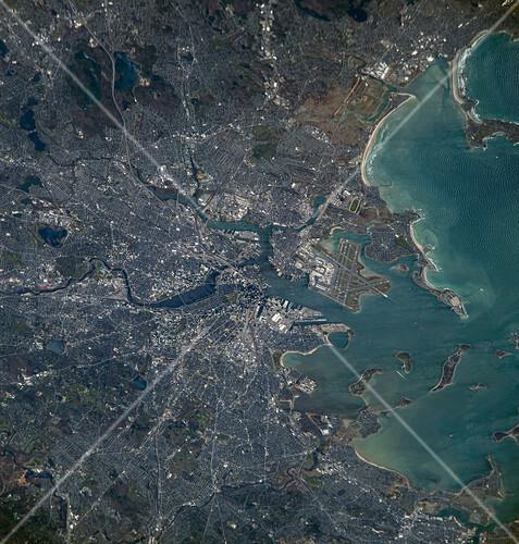 Boston, USA, ISS image