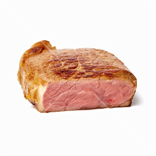 A medium steak