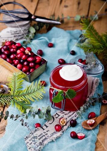 Cranberry jelly