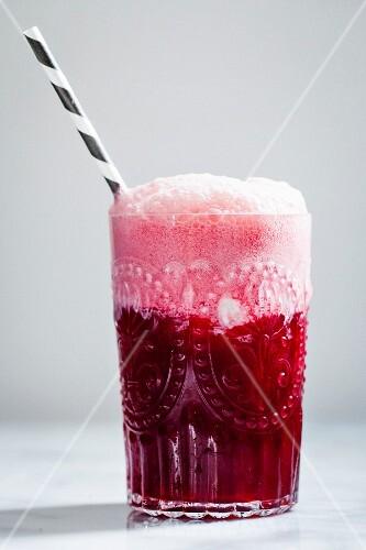 Hibiscus Soda drink