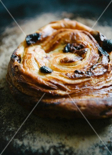 Pain aux raisins breakfast pastry