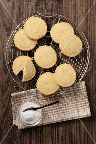 Shortbread on a Cooling Rack