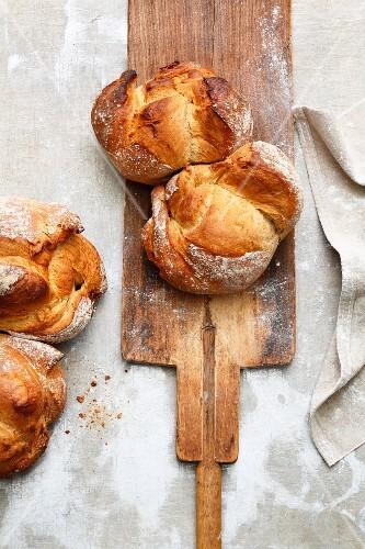 St. Gallen bread made from dark brown wheat flour (Switzerland)