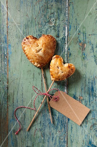 Cherry Pie Pops (small cherry pies on the stick) to give away