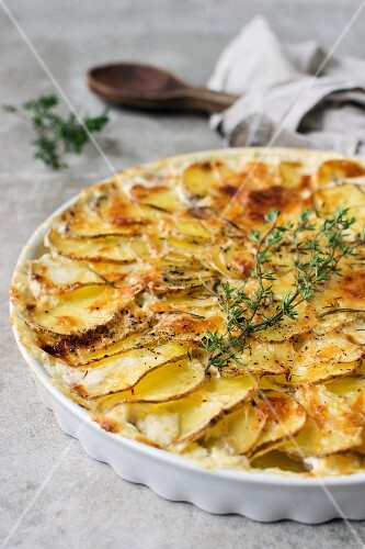 Kartoffelgratin mit Thymian