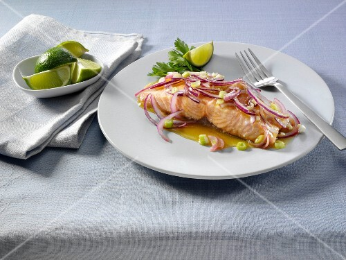 Lime and agave salmon
