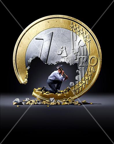 Euro crisis,conceptual image