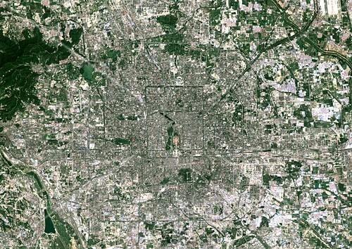 Beijing,China,satellite image