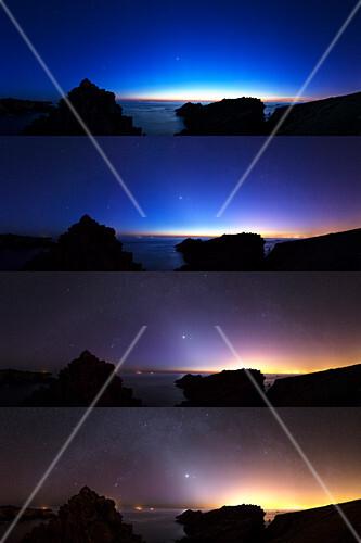 Changing night sky