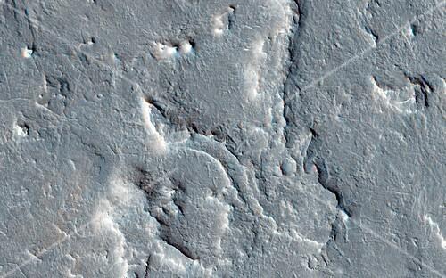 Martian rover landing site,MRO image