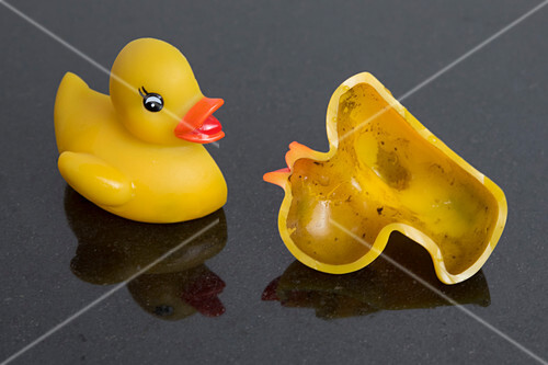 Germs inside rubber duck