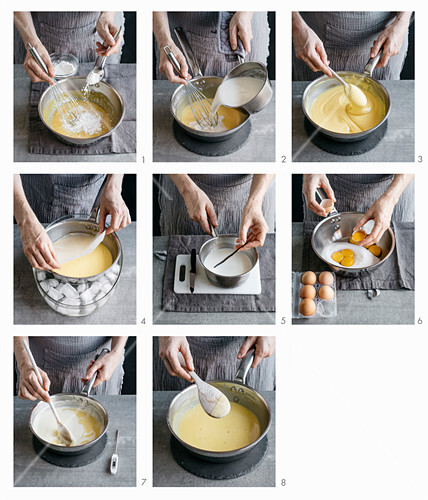 How to make pastry cream and vanilla sauce