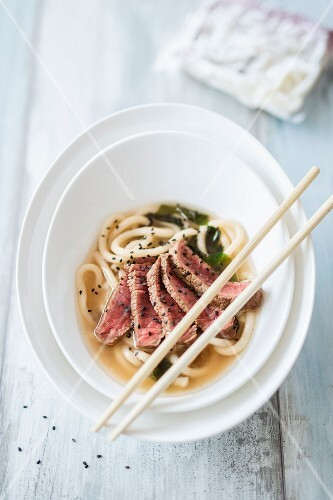 Udon soup with Wagyu (Japan)