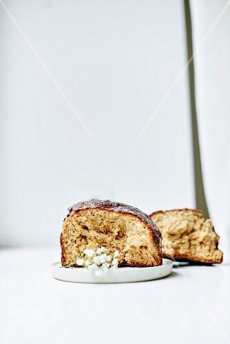 Homemade gluten-free babka (Eastern European cake) for Easter