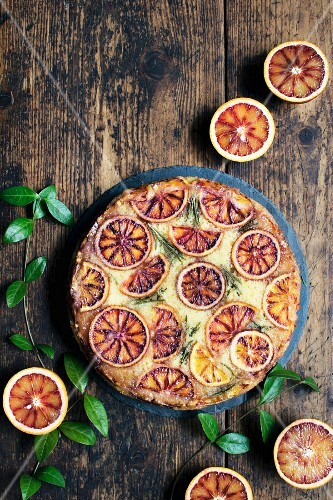 Blood orange cake (top view)