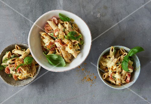 Whole Grain Pasta Salad With Curry Wild License Images