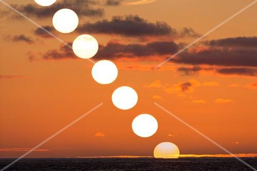 Sunset sequence, Madeira