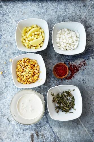 Summer Corn Chowder soup ingredients