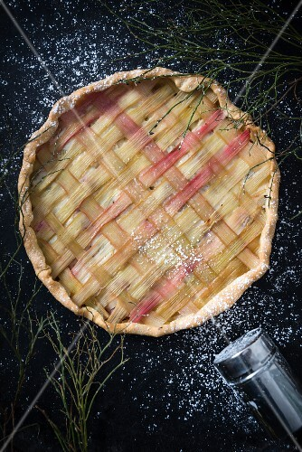 Rhubarb tart (vegan)