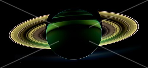 Saturn and its rings, Cassini image