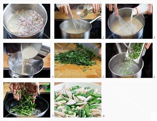 How to make penne with peas and green beans