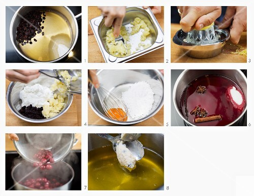 How to make quark balls with sour cherries