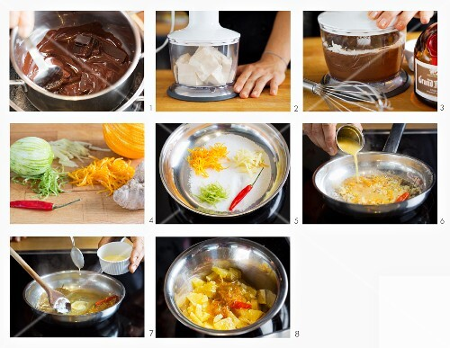 How to make soya and chocolate pudding with oranges