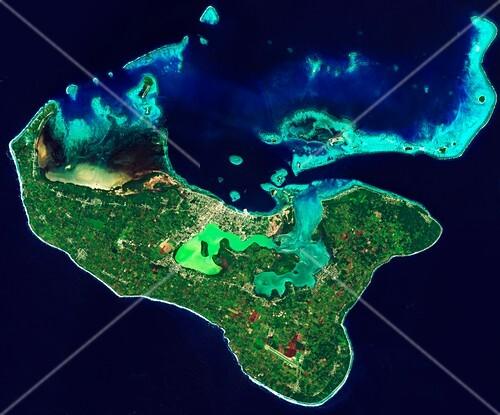 Tonga, satellite image