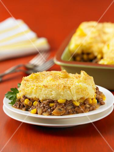 Shepherds pie with sweetcorn