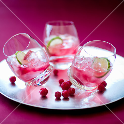 Non-Alcoholic White Zinfandel wine and cranberry cocktail