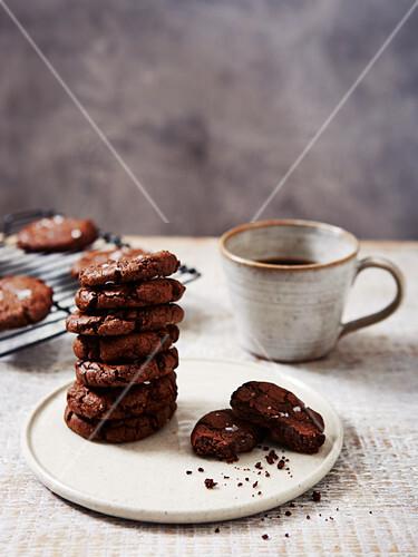 Chocolate and Seasalt Cookies