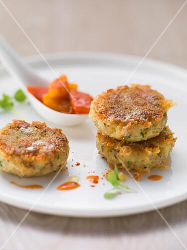Dumplings with peperonata