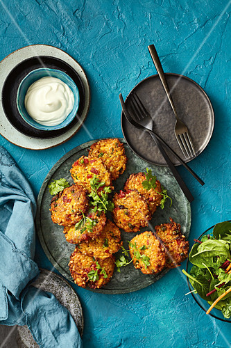 Curried tofu and vegetables patties