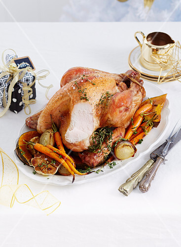 Christmas with Woman s Day - All the trimmings! - Roast Turkey with Macadamia stuffing